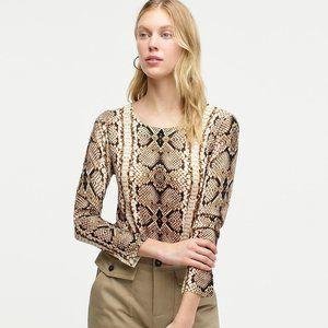 J. Crew Tippi Sweater in Snake Print M